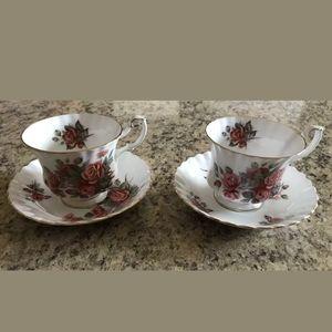 Royal Albert Centennial Rose Teacups & Saucers